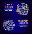cargo neon banners vector image vector image