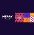christmas and new year banner colorful gift box vector image