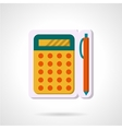 Colorful icon for mathematics vector image