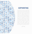 copywriting concept with thin line icons vector image vector image