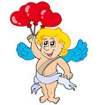 cupid with balloons vector image