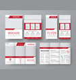 design front and back side folding brochure a4 vector image vector image