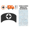 doctor cap icon with 1300 medical business icons vector image vector image