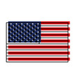 flag united states of america flat colorful vector image vector image