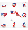 flags and icons of america vector image vector image