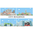 flat city landscapes composition vector image