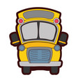 full color school bus transportation to education vector image vector image