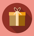 gift box present icon flat design with long vector image vector image