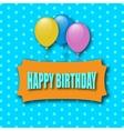 happy birthday greeting card greeting card vector image