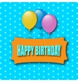 Happy Birthday Greeting Card Greeting Card With vector image vector image