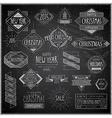 hip xmas emblems chalkboard vector image vector image