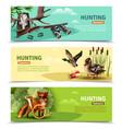 hunting horizontal banners vector image vector image