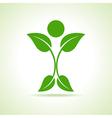 Leaf make a person icon vector image