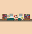 living room or library interior concept vector image vector image