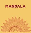 mandala bohemic element oriental vector image vector image