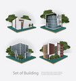modern city building perspective vector image vector image