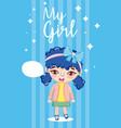 my girl cartoon vector image
