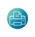 office equipment paper printer supply block vector image