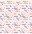 pastel tiny fish doodles vector image