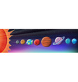 Planets in solar system vector image vector image