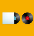 realistic music record vector image