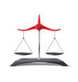 realistic scales justice balance symbol vector image