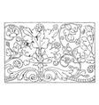 renaissance ornament vine is a frieze design vector image vector image