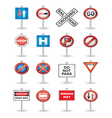road signs set vector image vector image