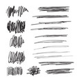 scribble brush strokes set logo design vector image