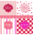 Set of feminine textures and frames vector image