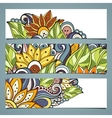 Set of Floral Banners vector image vector image