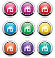 set of home buttons vector image vector image