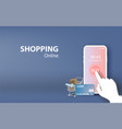 shopping online on mobile application concept vector image