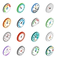 Speedometer icons set isometric 3d style vector image vector image