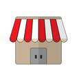 store icon in flat style vector image vector image