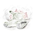 The panzer vector image vector image