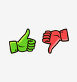 thumbs up and down icons like dislike symbol vector image