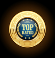 Top rated golden insignia - appreciated medal vector image