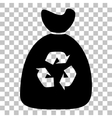 Trash bag icon vector image vector image