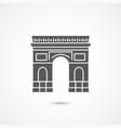 triumphal arch icon vector image vector image