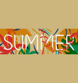 tropical summer jungle plant web banner art vector image vector image
