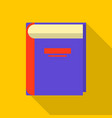 tutorial book icon flat style vector image vector image