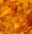 yellow orange honey polygonal triangular pattern vector image vector image