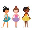 Little girls different ethnic dancer vector image