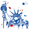 statue of liberty with torch vector image