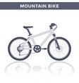mountain bike on white vector image
