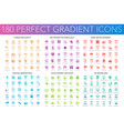 180 trendy perfect gradient icons set cyber vector image