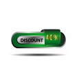 40 percent discount green button vector image vector image