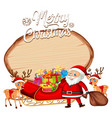 a santa on christmas banner vector image