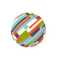 abstract rectangular sphere logo vector image vector image
